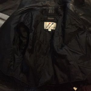 Thermal insulated leather jacket.